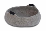 "Dharma Dog Karma Cat Basket 20"" Handles Grey"