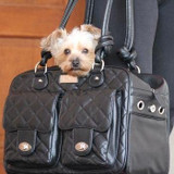 Doggie Design Allie Mia Michele Black Quilted Carry Bag