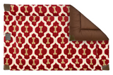 Tall Tails Red Bone Fleece Crate Bed 36x23 LG
