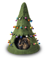 Dharma Dog Holiday Cat Cave Green Tree