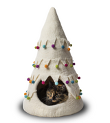 Dharma Dog Holiday Cat Cave White Tree