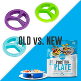 The Original Skinny Plate Compared To The New Adjustable Portion Control Plate