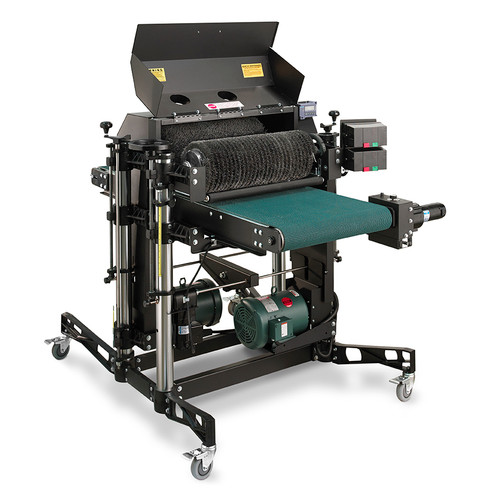 SuperMax Tools 73497-2 SuperBrush 49x2 Double Brush Sander creates a faster output, reduced rework, and greater product consistency