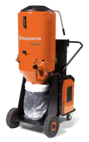 Husqvarna 967664201 T8600 480V 3PH Dust Collector is an effective industrial dust collector to match the grinding machines Husqvarna PG 820 RC, PG 820, PG 680 RC, PG 680, PG 530 and PG 400 as well as shavers, shot blasters and saws.