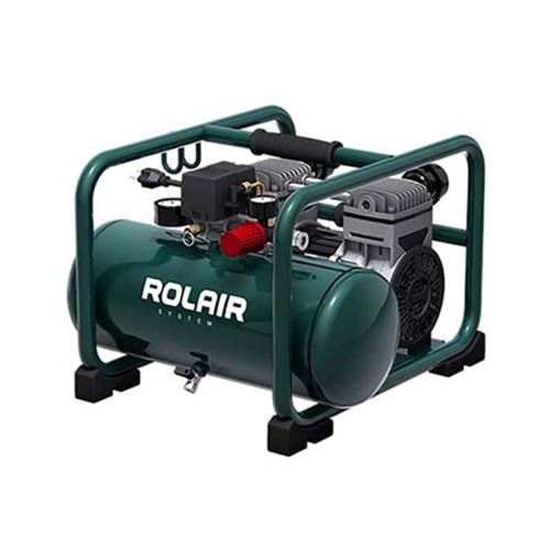 Rolair JC 20 2HP Twin Tank Ultra Quiet 3 Gal Oil Free Air Compressor