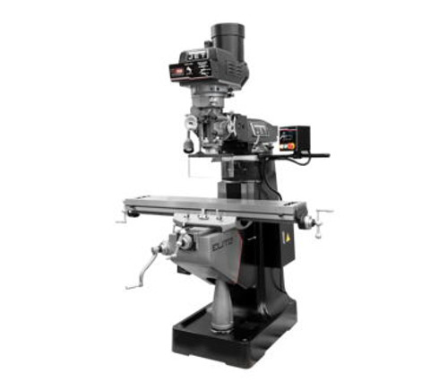 Jet 894407 Elite EVS-949 Mill with 3-Axis ACU-RITE 303 (Quill) DRO and Servo X, Y-Axis Powerfeeds