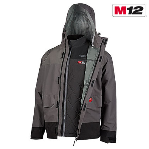 Milwaukee 203RN-21 M12  Heated AXIS  Layering System with HYDROBREAK  Rain Shell