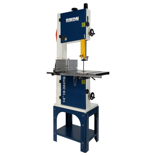 Rikon 10-324TG 14 In 1.5 HP TEFC Bandsaw OS with Tool-less Blade Guides