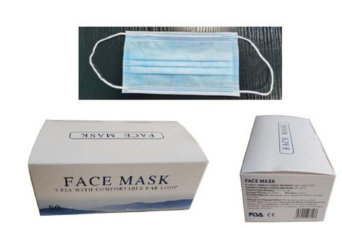 3-Ply Disposable Face Mask with Comfort Ear Loop