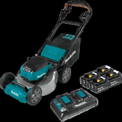 Makita XML08PT1 18V X2 36V LXT Brushless Self Propelled Commercial Lawn Mower Kit with 4 batteries