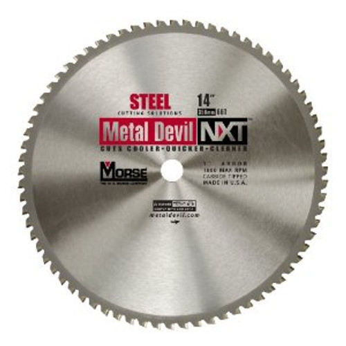 "MK Morse 101318 14"" x 66T Metal Devil Circular Saw Blade - Steel"