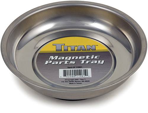 """Titan 11061 4-1/4"""" Stainless Steel Mini Magnetic Parts Tray"""