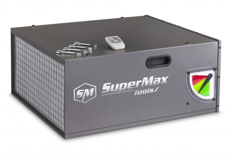 SuperMax Tools 810650 Air Filtration Unit is designed to recycle all of the air in a 20FTx20FTx8FT space up to 22 times per hour at its highest speed