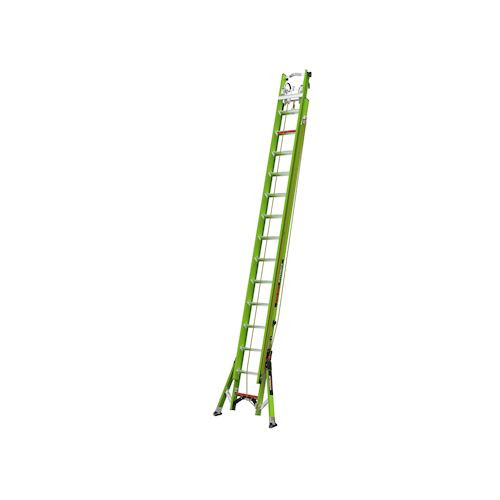 Little Giant 17628-247 SUMOSTANCE With HYPERLITE Technology 28 Ft - ANSI Type IAA - 375 Lb Rated, Fiberglass Extension Ladder With GROUND CUE, Cable Hooks, CLAW, V-Bar, limited arrest system safety line and SURE-SET feet - To be used with PETZL ASAP kit