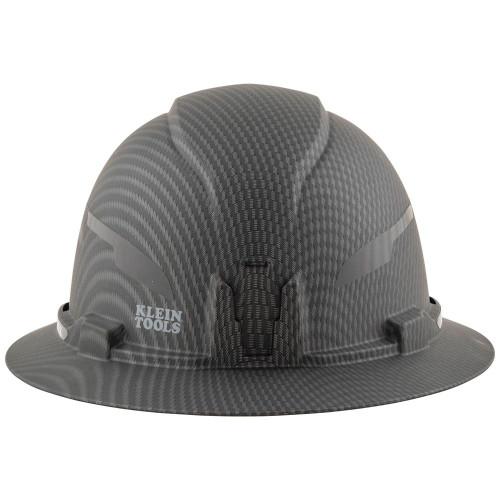 Klein 60345 Hard Hat, Premium KARBN Pattern, Non-Vented Full Brim, Class E