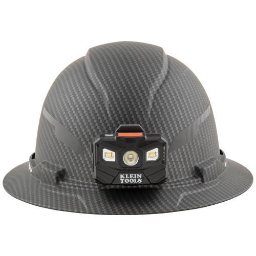 Klein 60346 Hard Hat, Premium KARBN Pattern, Non-Vented Full Brim, Class E, Lamp