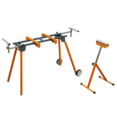 Bora PM-4000B Portable Folding Miter Saw Stand And Pedestal Roller