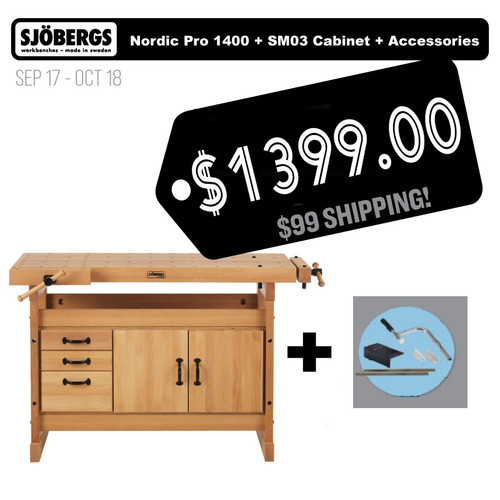 Sjobergs Nordic Pro 1400 Plus SM03 Cabinet And Accesory Kit