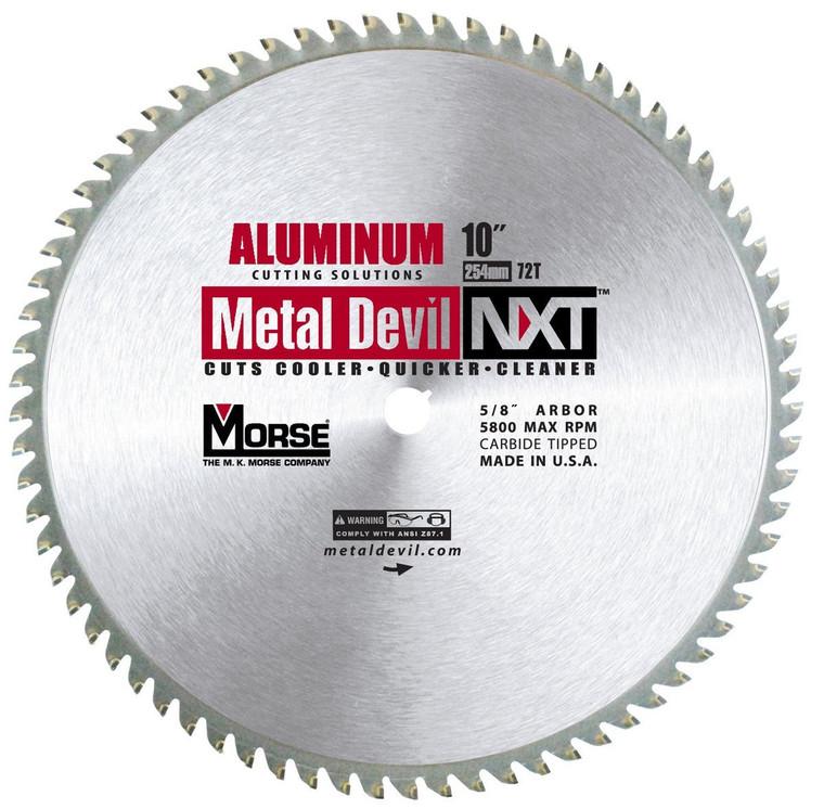 MK Morse 101646 10 in. x 72T Metal Devil Cutting Circular Saw Blade - Aluminum
