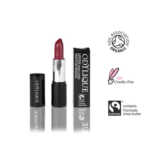 Himbeer-roter Lippenstift ohne Mineraloel