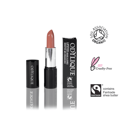 Nudefarbener Mineral Lippenstift ohne Mineraloel