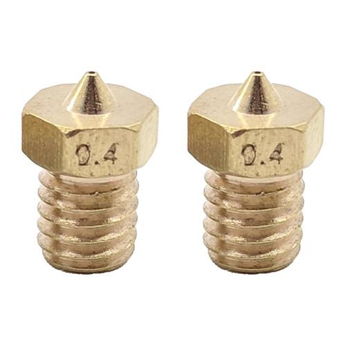 Nozzle - 0.4mm - Select Mini V2, Pro/V3, Mini Delta, MP10's, and M320 - (Qty 2)