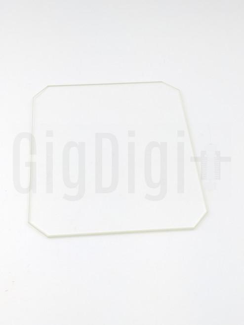 Borosilicate Glass Bed - 130mm x 160mm x 3mm - MP Select Mini