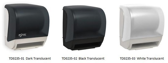 InSpire Electronic Roll Towel Dispenser Colors