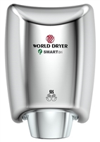 K-970 SMARTdri Hand Dryer by World Dryer, Automatic, Polished Chrome, Aluminum, High Speed Hand Dryer, K-970P2 SMARTdri PLUS