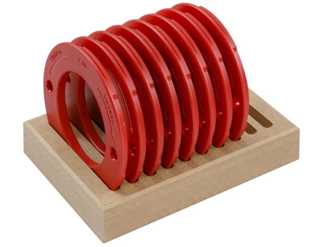 Woodpeckers | 8 Piece Twist Lock Ring Set, Molded (TLRSET-ML)