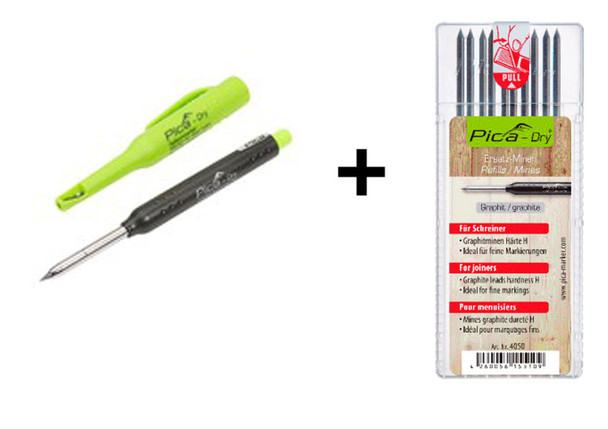"Pica Dry Automatic Pencil 3030 with Refill - ""H"" Hardness 4050 Combo (5050)"