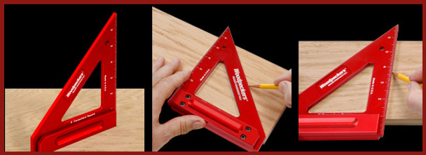 "Woodpeckers | 6"" Carpenters Square (CRPSQ6-INRD)"