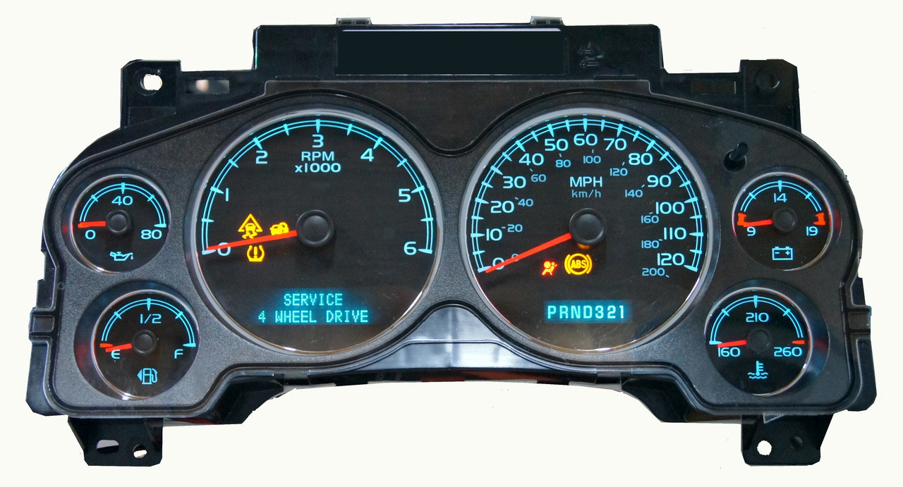 2007 chevy tahoe instrument cluster not working