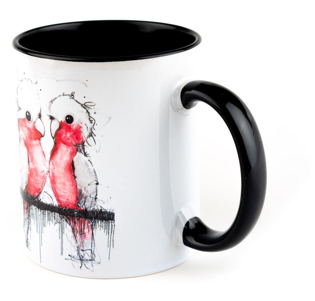 Pink and Grey Cockatoo Mug