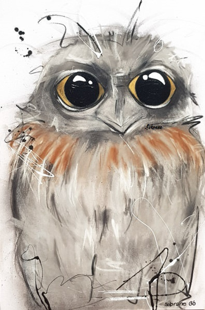Tawny Original artwork completed in Pastels, spray-paint, charcoal and enamel.  Artwork is on canvas
