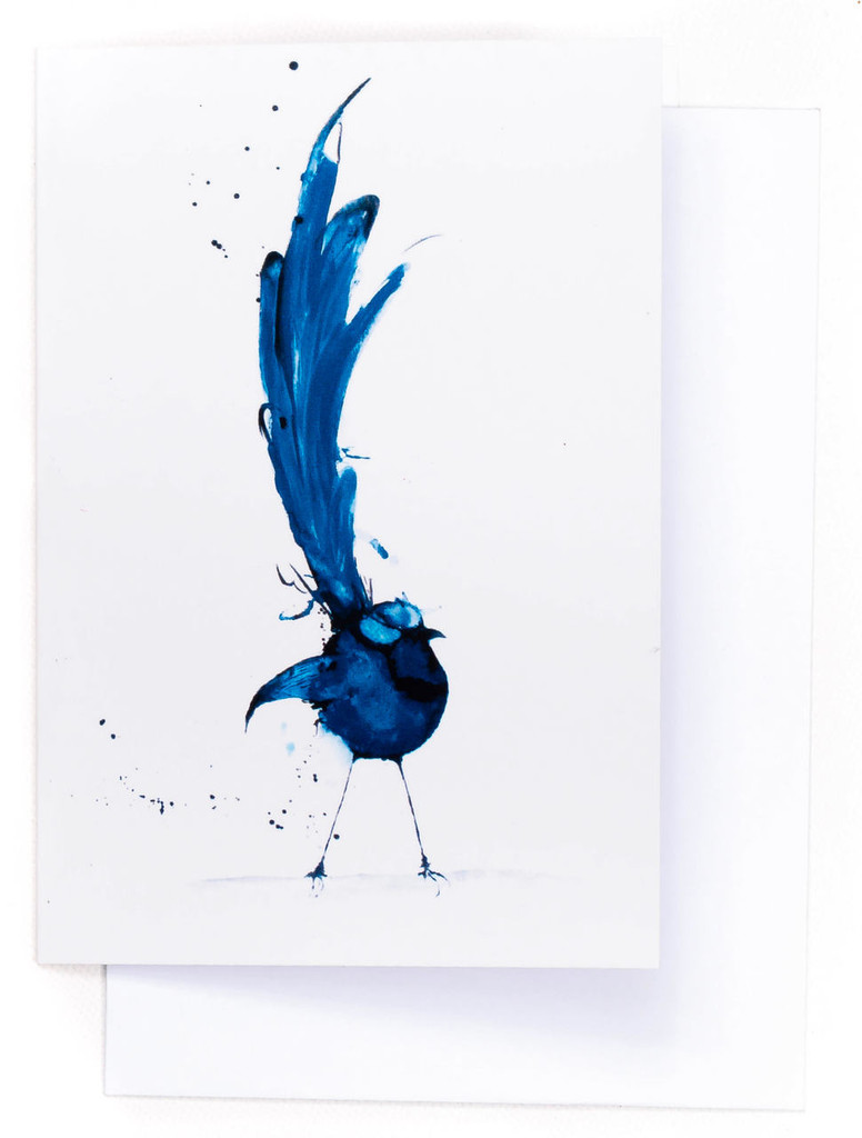 Splendid Blue Wren Card