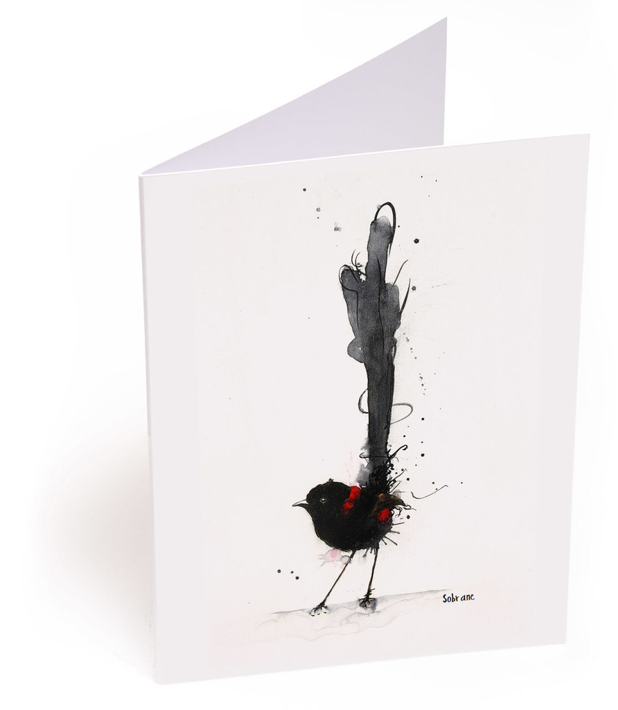 Red Backed Fairy Wren Card
