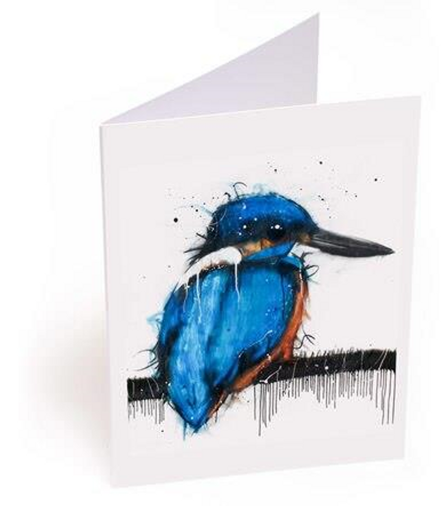 Azure Kingfisher Card
