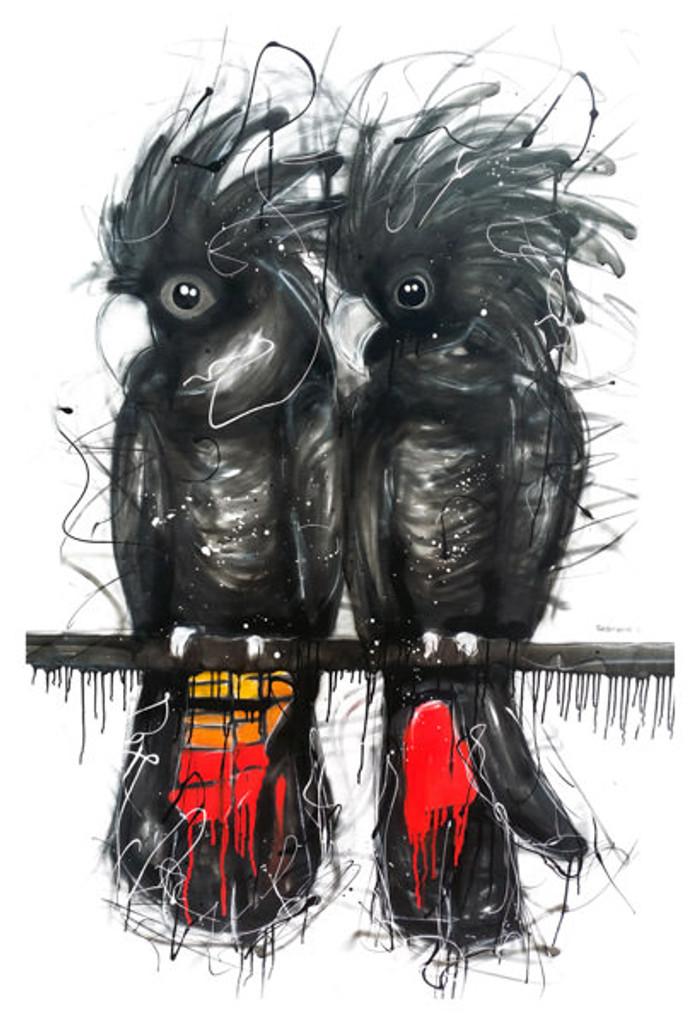 Redtail Cockatoo Tea Towel