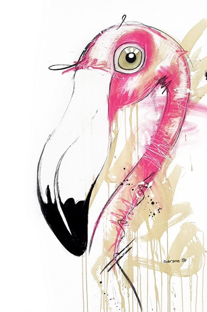 Flamingo Original on Canvas