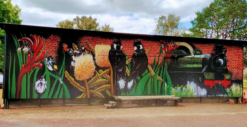 Train Mural