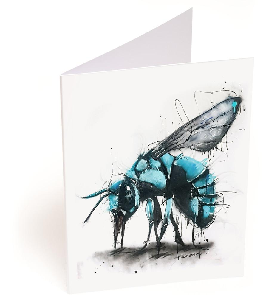Neon Cuckoo Bee Card