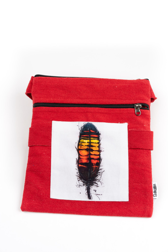 Redtail Feather Satchel