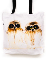 Funky all cotton tote featuring cute Barking Owls.  45cm x 45cm. Scotch guard protection. Washable