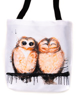 Funky all cotton tote featuring my American Owls.  45cm x 45cm. Scotch guard protection. Washable