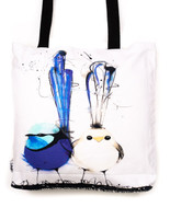 Funky all cotton tote featuring the Wren Family.  45cm x 45cm. Scotch guard protection. Washable