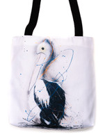 Funky all cotton tote featuring Mr Pelican.  41cm x 41cm. Scotch guard protection. Washable
