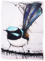 Superb Fairy Wren Tea Towel