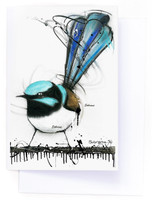 Superb Fairy Wren Card