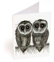 Sooty Owl Pair Card